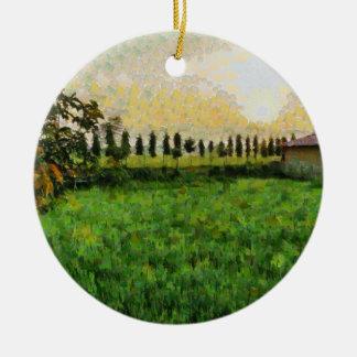 Ornamento De Cerâmica Casa de campo e fazenda