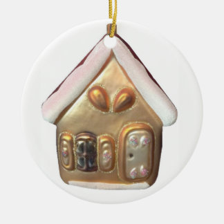 Ornamento De Cerâmica Casa de pão-de-espécie