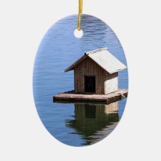 Ornamento De Cerâmica Casa do lago