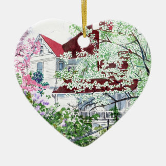 Ornamento De Cerâmica Casa do Victorian de Eureka Springs