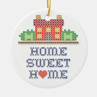 Ornamento De Cerâmica Casa doce Home