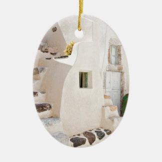 Ornamento De Cerâmica Casa em Santorini