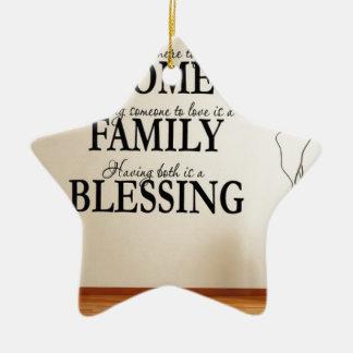 Ornamento De Cerâmica Casa + Família = bênção
