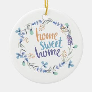 Ornamento De Cerâmica Casa floral do doce da casa da grinalda da