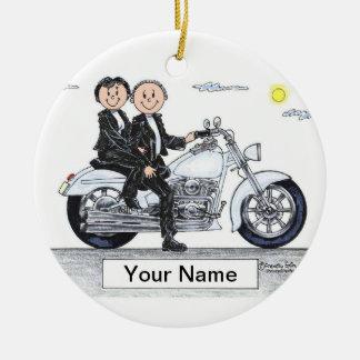 Ornamento De Cerâmica Casal da motocicleta