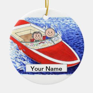 Ornamento De Cerâmica Casal do barco