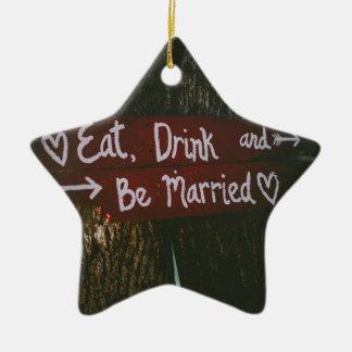 Ornamento De Cerâmica Casamento do amor