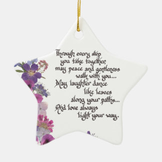 Ornamento De Cerâmica Casamento ou presente do noivado