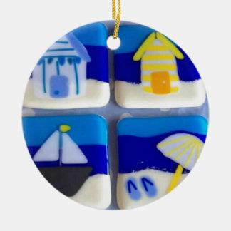 Ornamento De Cerâmica Casas 1