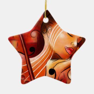 Ornamento De Cerâmica Casselopia - sonho do violino