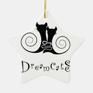 Ornamento De Cerâmica Casseminia - dreamcats com texto