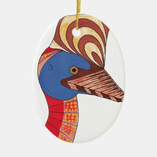 Ornamento De Cerâmica Cassowary