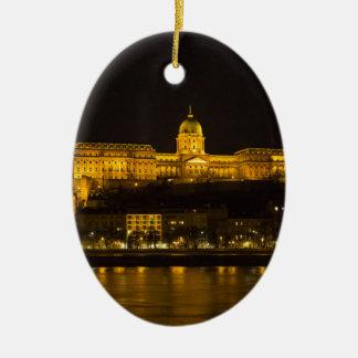 Ornamento De Cerâmica Castelo Hungria Budapest de Buda na noite