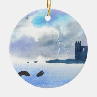 Ornamento De Cerâmica Castelo pelo mar