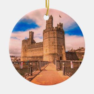 Ornamento De Cerâmica Castelo Wales. de Caernarfon