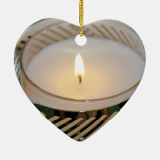 Ornamento De Cerâmica Castiçal da prata da vela do feriado do Natal do