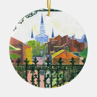 Ornamento De Cerâmica Catedral da noite estrelado
