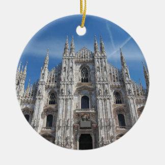 Ornamento De Cerâmica Catedral Italia de Milão Milão dos di do domo