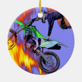 Ornamento De Cerâmica Cavaleiro alto do motocross do estilo livre do vôo