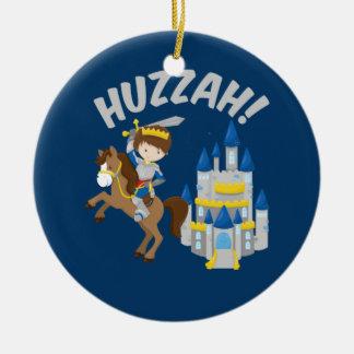 Ornamento De Cerâmica Cavaleiro de Faire do renascimento de Huzzah