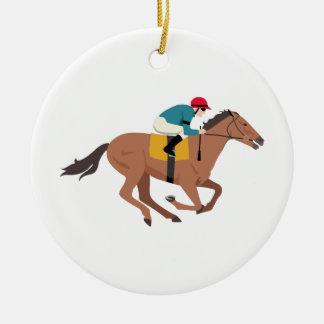 Ornamento De Cerâmica Cavaleiro do cavalo de Kentucky Derby