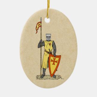 Ornamento De Cerâmica Cavaleiro do cruzado, início do século XIII