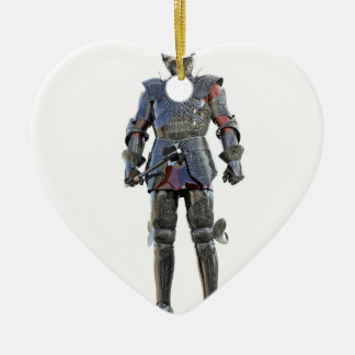 Ornamento De Cerâmica Cavaleiro que está e que olha para a frente