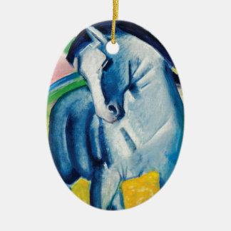 Ornamento De Cerâmica Cavalo azul mim por Franz Marc