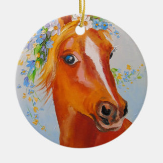 Ornamento De Cerâmica Cavalo bonito