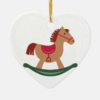 Ornamento De Cerâmica Cavalo de balanço festivo