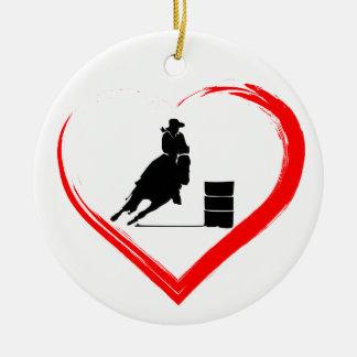 Ornamento De Cerâmica Cavalo de competência personalizado do tambor da