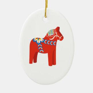 Ornamento De Cerâmica Cavalo de Dala do sueco