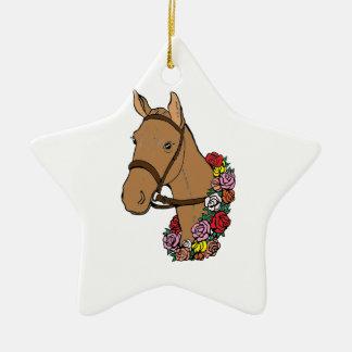 Ornamento De Cerâmica Cavalo do campeão