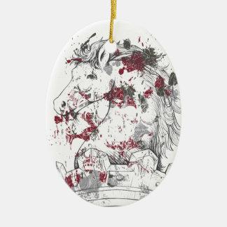 Ornamento De Cerâmica cavalo do vintage