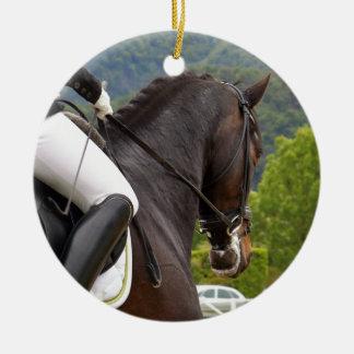 Ornamento De Cerâmica Cavalo Dressage