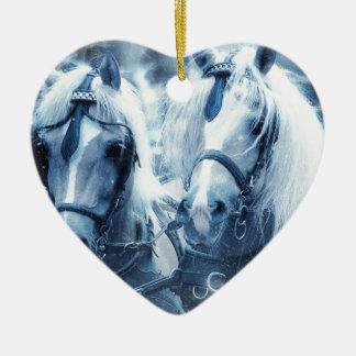 Ornamento De Cerâmica cavalos