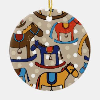 Ornamento De Cerâmica cavalos de balanço