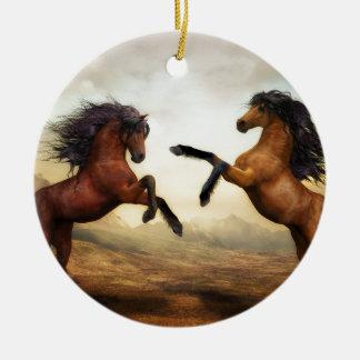 Ornamento De Cerâmica Cavalos de combate
