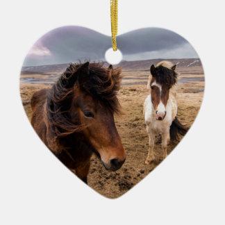 Ornamento De Cerâmica Cavalos de Islândia