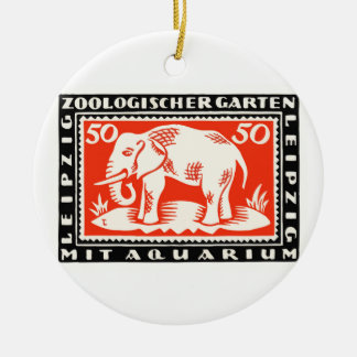 Ornamento De Cerâmica Cédula 1919 de Notgeld do jardim zoológico de