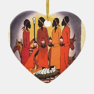 Ornamento De Cerâmica Cena africana da natividade do Natal