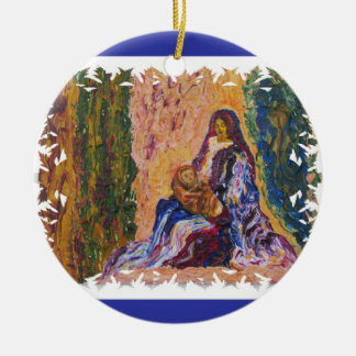 Ornamento De Cerâmica Cena da natividade com bebê Jesus e belas artes de