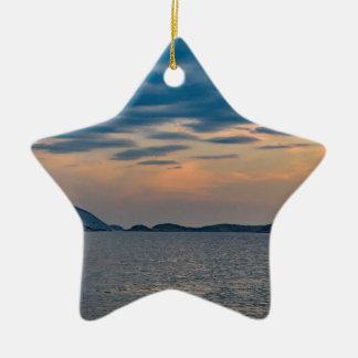 Ornamento De Cerâmica Cena da paisagem da praia Rio de Janeiro de