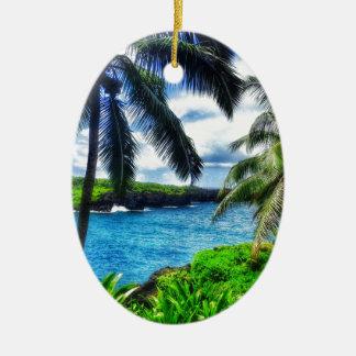 Ornamento De Cerâmica Cena do Hawaiian IMG_1122 4