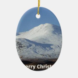 Ornamento De Cerâmica cena do inverno do Natal