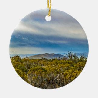 Ornamento De Cerâmica Cena Patagonian da paisagem, Santa Cruz, Argentina