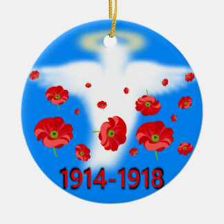 Ornamento De Cerâmica Centenário da extremidade da primeira guerra