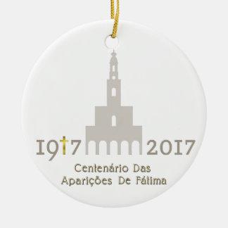 Ornamento De Cerâmica Centenário DAS Aparições de Fátima - Portugal