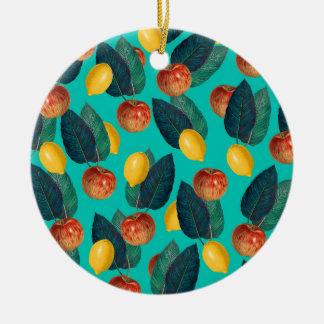 Ornamento De Cerâmica cerceta das maçãs e dos limões