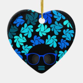 Ornamento De Cerâmica Cerceta de turquesa da diva do Afro